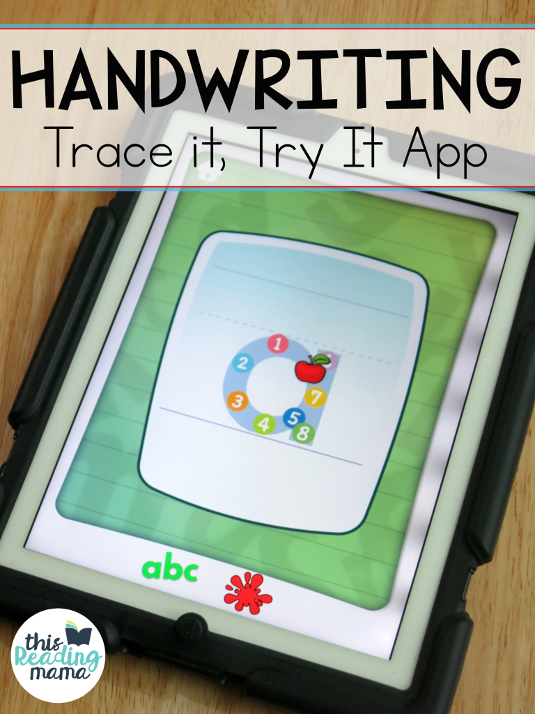 Trace It Try It Handwriting App - This Reading Mama