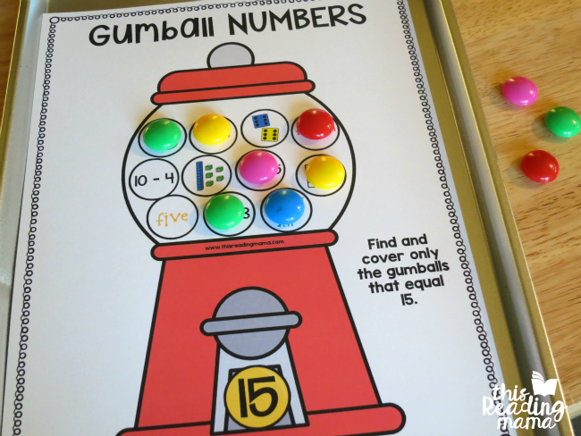 covering gumball math mats with Power Magnets