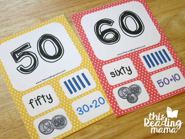 level 3 number cards 10-100