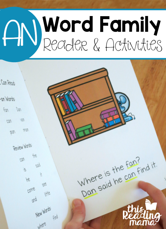 Learn to Read AN Word Family Reader and Activities