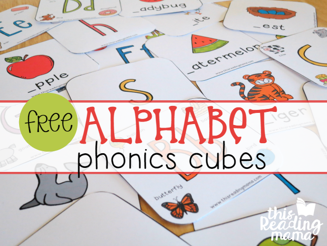Alphabet Phonics Cubes - 2 levels of free cube inserts - This Reading Mama