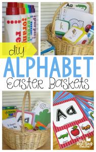 DIY Alphabet Easter Baskets