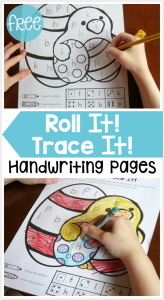 FREE Easter Handwriting Pages – Roll It! Trace It!