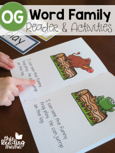 Learn to Read OG Word Family Reader & Activities