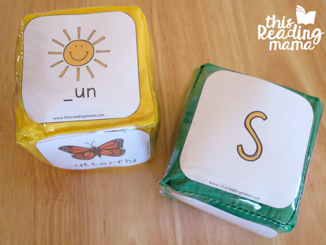 roll and match the beginning letter sounds