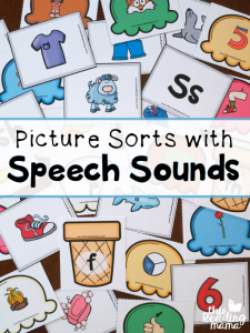 Picture Sorts with Speech Sounds