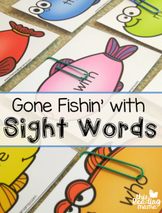 Sight Words Fishing Game {with Editable Fish!}