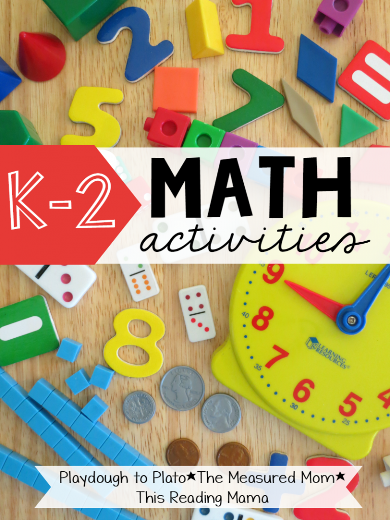 K-2 Math Activities Series with website names