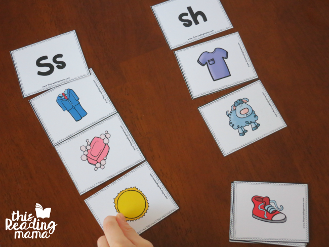 s and sh picture sound sort for speech sounds