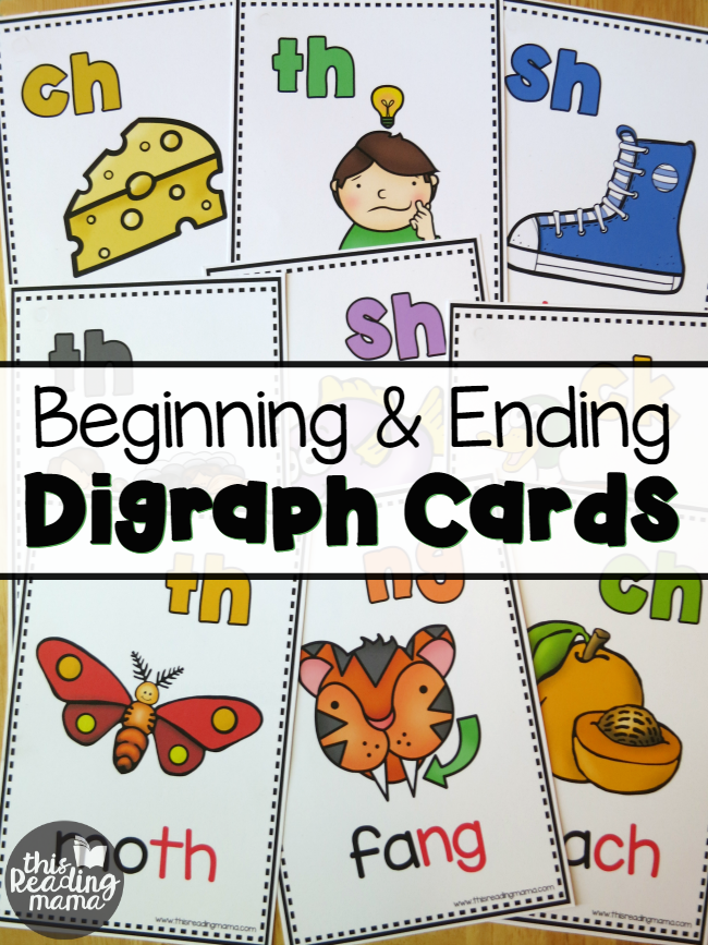 24 FREE Beginning and Ending Digraph Cards - This Reading Mama