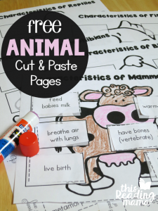 Animal Classification Cut & Paste Pages {for Vertebrates}