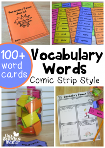 Learning New Vocabulary Words with Comic Strips