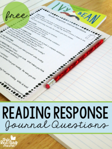 Reading Response Journal Questions {FREE!}