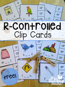 FREE R-Controlled Clip Cards