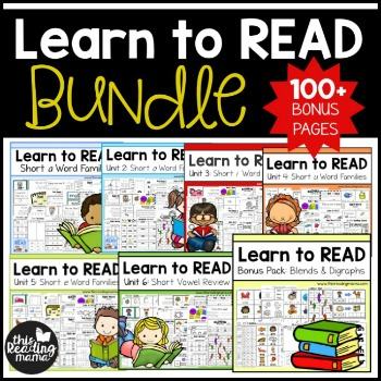Learn to Read BUNDLE Pack 350- This Reading Mama