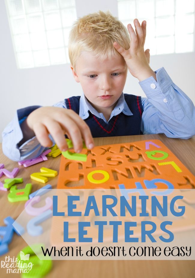 Learning Letters - When It Doesn't Come Easy - This Reading Mama