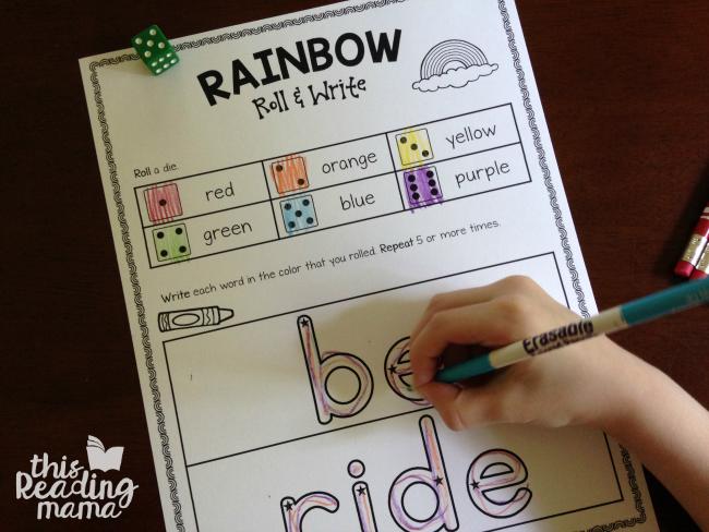 Good Handwriting: Using Rainbow Writing