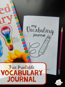 FREE Vocabulary Journal & Printables