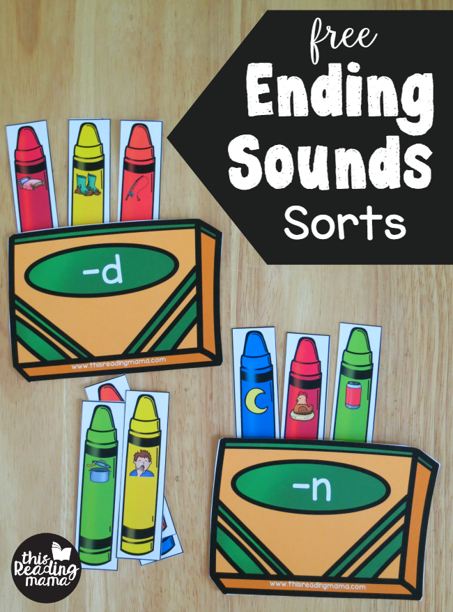 FREE Ending Sounds Sorts - from Crayon Box Phonics Pack - This Reading Mama