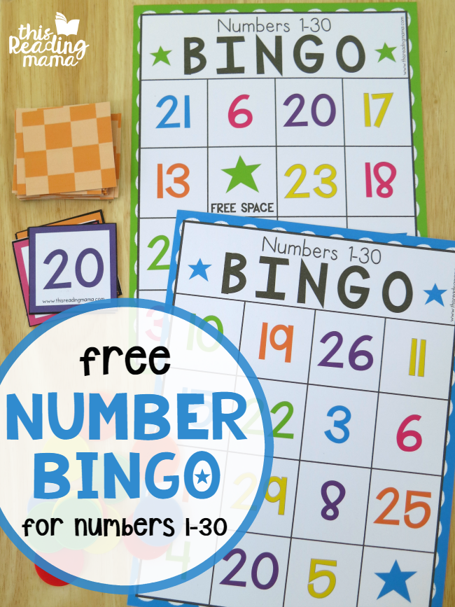 Free Number Bingo For Numbers 1 30 This Reading Mama