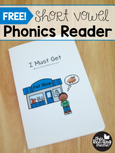 FREE Short Vowel Phonics Reader {from Learn to Read}