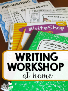 Teaching Writing Workshop at Home