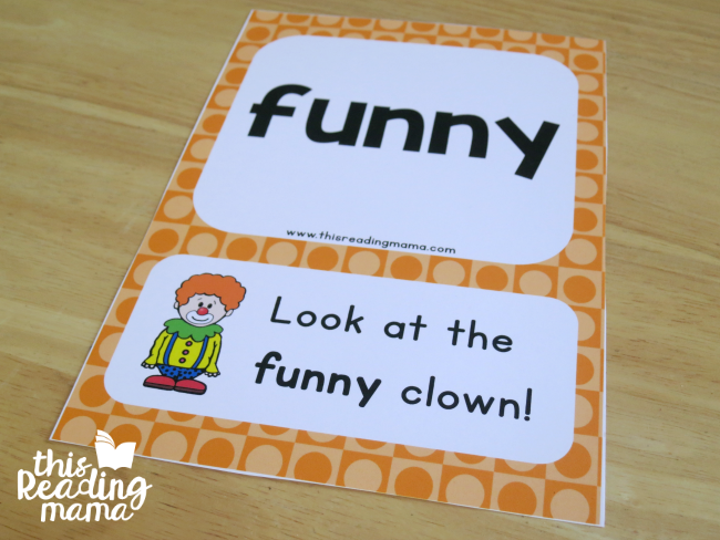 pictures help support reading with sight word sentence cards level 1