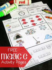 FREE Magic e Activity Pages {for CVCe Words}