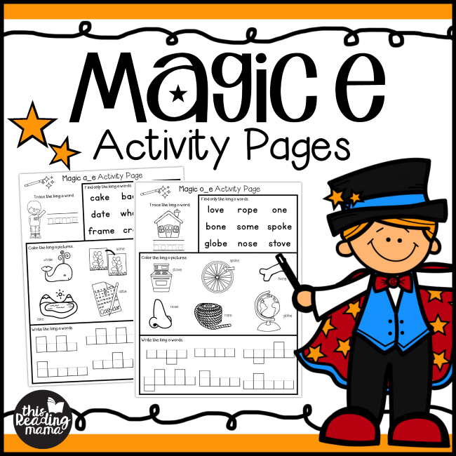 Magic e Activity Pages Pack from This Reading Mama