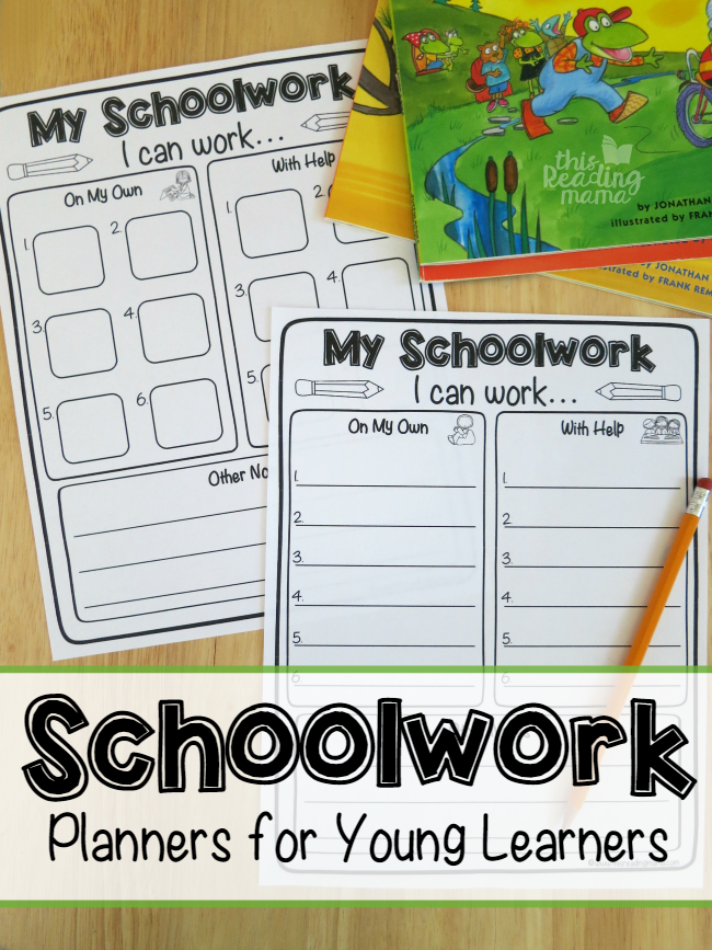 Schoolwork Planner for Kids - This Reading Mama