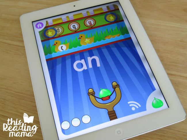 Sight Word Slingshot Game from Sight Word Games App