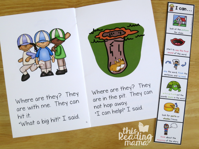 word attack strategies bookmarks for beginning readers