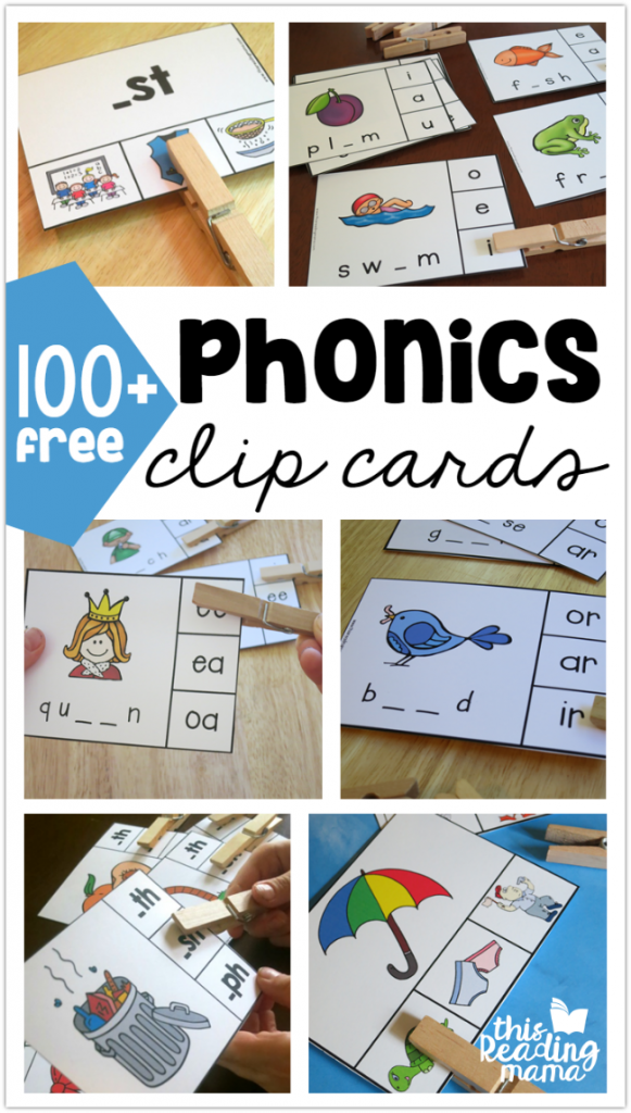 100+ Free Phonics Clip Cards - This Reading Mama