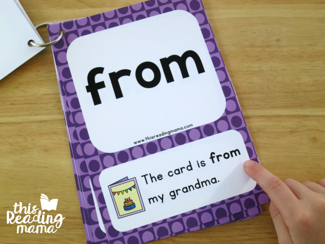 reading first grade sight word sentence cards