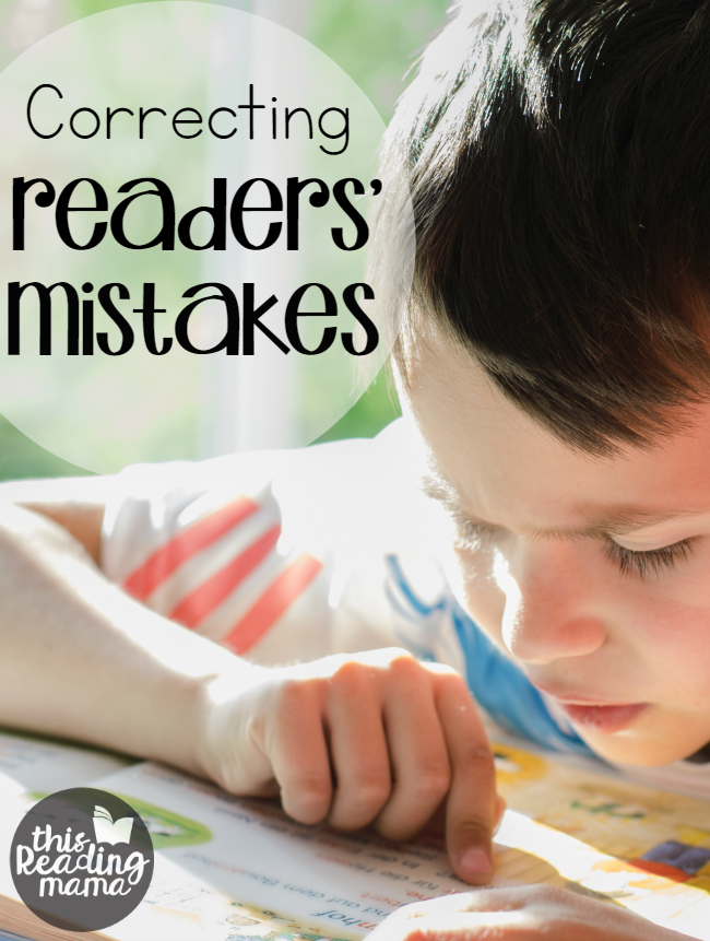 Correcting Reading Mistakes - This Reading Mama