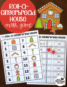 Roll a Gingerbread House Math Game