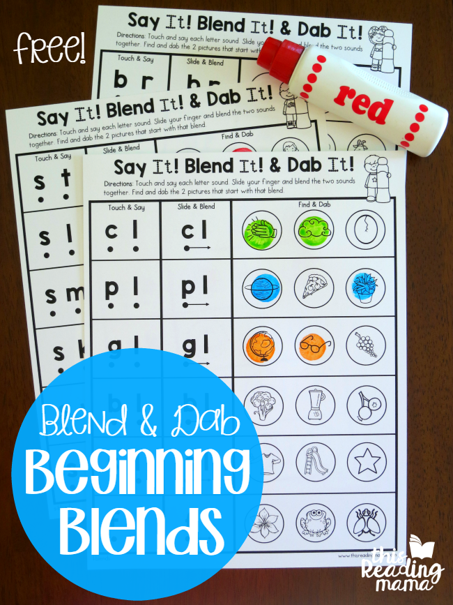Blend \u0026 Dab Beginning Blends Worksheets This Reading Mama S Blend Printables Blend And Dab Beginning Blends Worksheets Free This Reading Mama