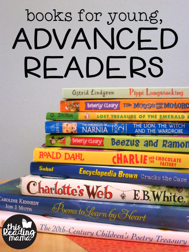 Books For Young Advanced Readers This Reading Mama