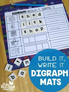 Build & Write Digraph Spelling Mats
