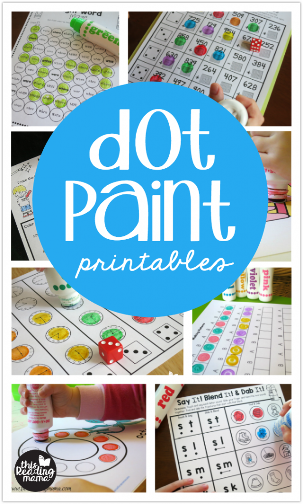 Dot Paint Printables from This Reading Mama