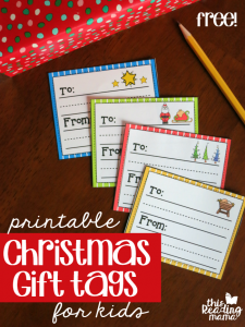Printable Christmas Gift Tags for Kids