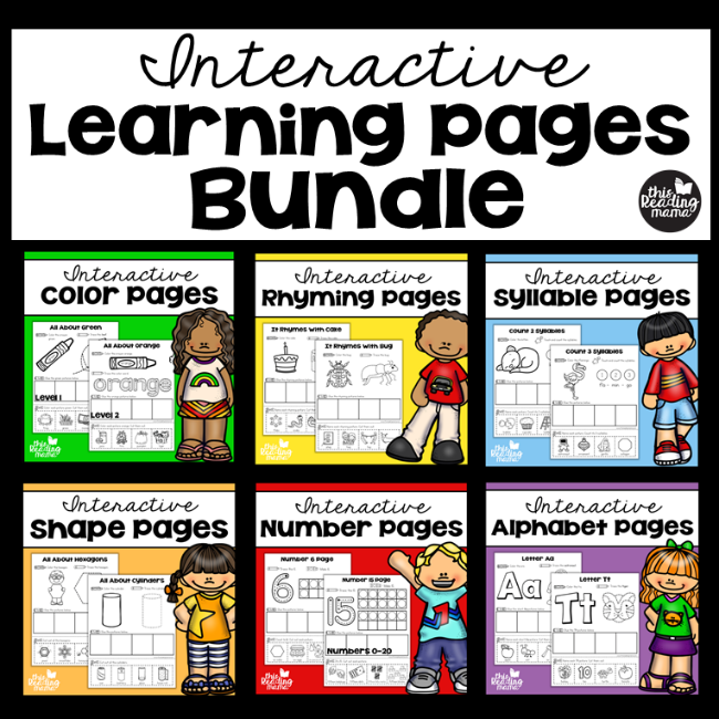 Interactive Learning Pages {Bundle} - This Reading Mama