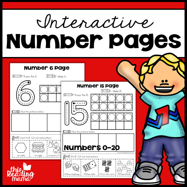 Interactive Number Pages - This Reading Mama