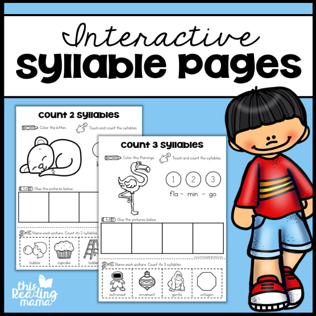 Interactive Syllable Pages - This Reading Mama