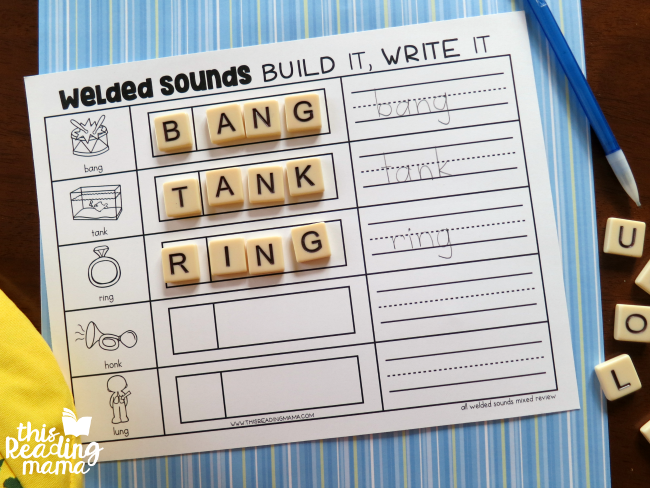 mixed review welded sounds spelling mat