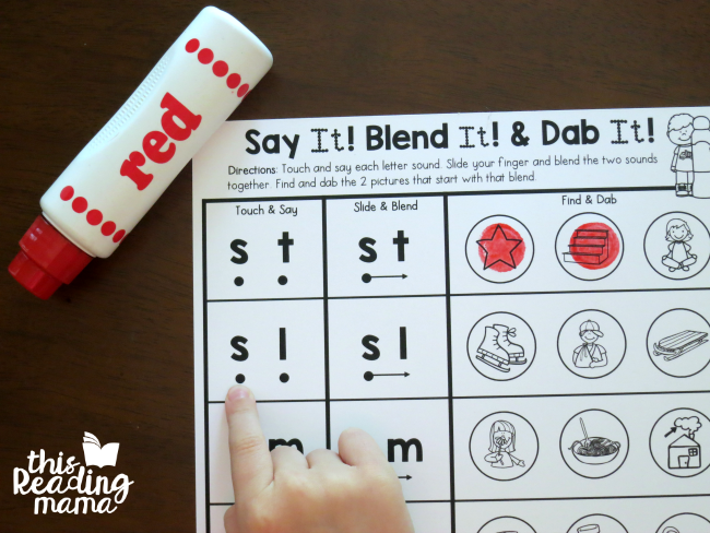 touch and say individual letter sounds - beginning blends worksheets
