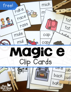 FREE Magic e Clip Cards