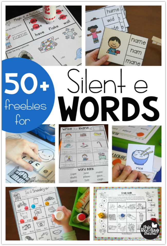 Teaching Silent E Words This Reading Mama