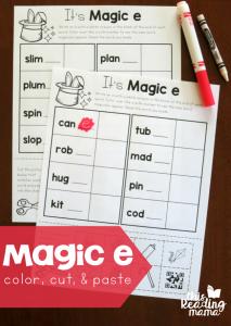 More Magic e Words Freebies
