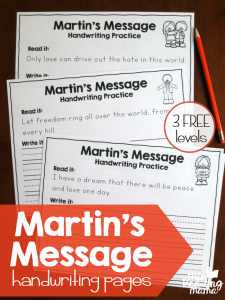 Martin Luther King, Jr. Handwriting Pages